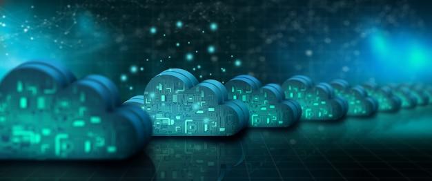 Technologia przetwarzania w chmurze internet w sieci danych cloud service cloud storage concept