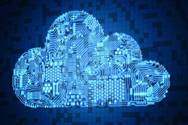 Technologia przetwarzania w chmurze z cyfrowym ekranem i chmurą obwodów