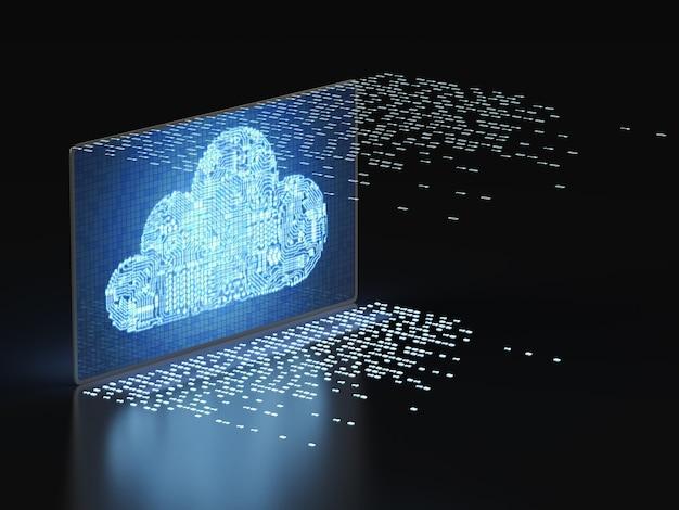 Technologia przetwarzania w chmurze z cyfrowym ekranem z wyświetlaniem w chmurze