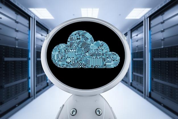 Technologia przetwarzania w chmurze z robotem renderującym 3d z chmurą obwodów