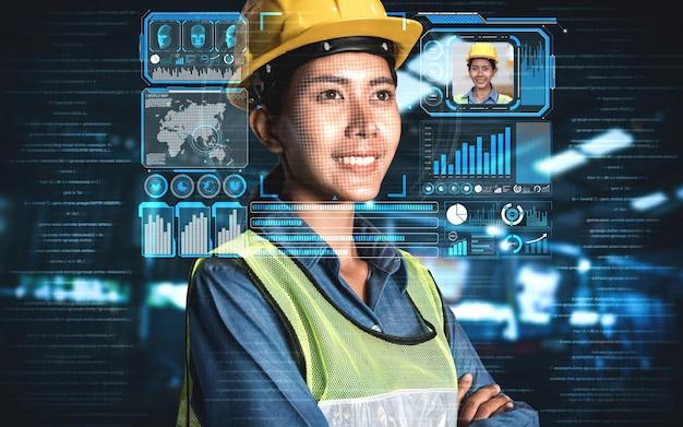 Technologia rozpoznawania twarzy dla pracowników przemysłu w celu uzyskania dostępu do sterowania maszyną