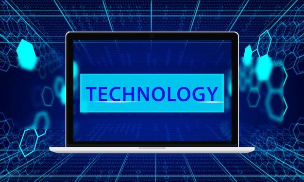 Technologia sieć kod binarny język komputerowy