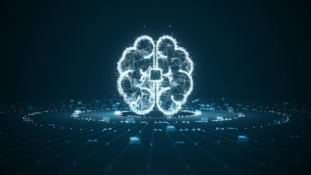 Technologia sztucznej inteligencji koncepcja danych cyfrowych.