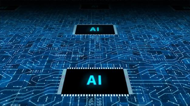 Technologia sztucznej inteligencji tło procesora