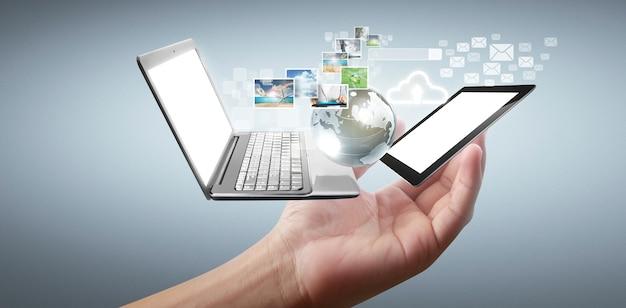 Technologia technologii urządzeń połączonych ze sobą w dłoniach
