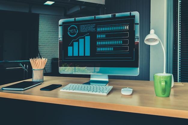 Technologia wizualnej analizy danych biznesowych za pomocą kreatywnego oprogramowania komputerowego