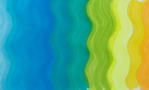 Tęcza fala gradientu morza w tle. lekka tekstura znacznika.