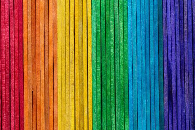Tęcza koloru tekstury drewniany tło