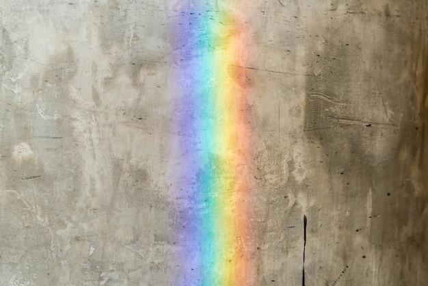 Tęcza Na ścianie Cementu Darmowe Zdjęcia