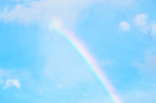 Tęcze i tło błękitnego nieba