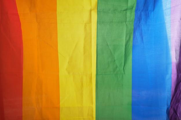 Tęczowa flaga lgbt tło kopia przestrzeń symbol flagi społeczności lgbt i światło dzienne