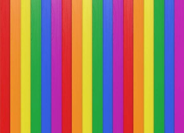 Tęczowy kolor pionowe panele drewniane ściany backgorund