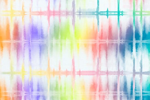 Tęczowy wzór tła barwiącego krawat
