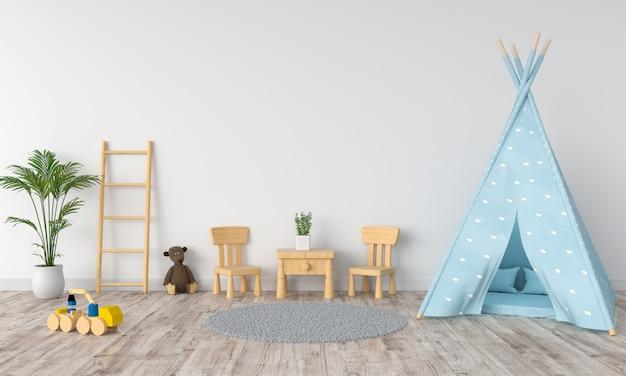 Teepee w pokoju dziecięcym dla makiety