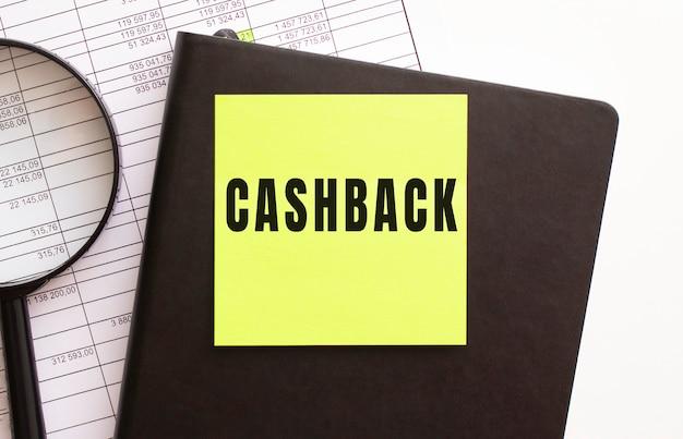 Tekst cashback na naklejce