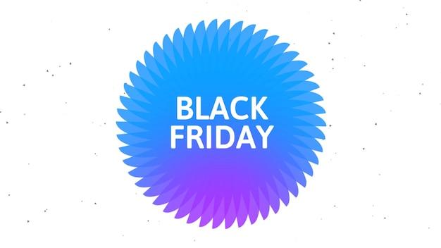Tekst czarny piątek na niebieskim tle mody i minimalizmu o geometrycznym kształcie. elegancka i luksusowa ilustracja 3d dla szablonu biznesowego i korporacyjnego