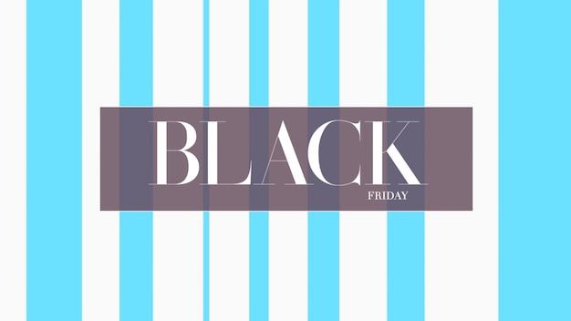 Tekst czarny piątek na niebieskim tle mody i minimalizmu z geometrycznymi liniami. elegancka i luksusowa ilustracja 3d dla szablonu biznesowego i korporacyjnego