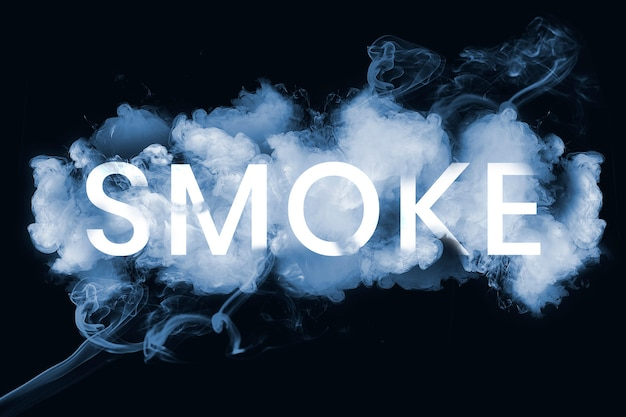 Tekst dymu czcionką dymu
