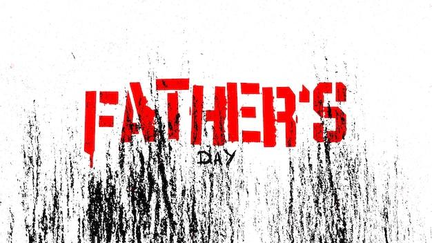 Tekst dzień ojców na tle hipster i grunge z hałasem. elegancki i luksusowy styl ilustracji 3d dla szablonu biznesowego i korporacyjnego
