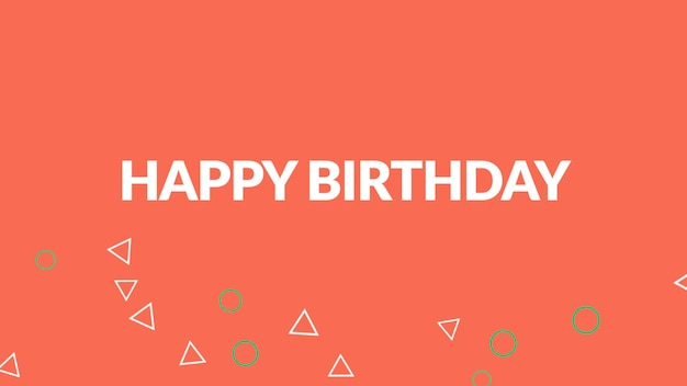 Tekst happy birthday na tle mody i minimalizmu o geometrycznym kształcie. elegancki i luksusowy styl ilustracji 3d na szablon wakacyjny i firmowy