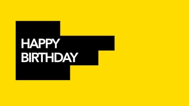 Tekst happy birthday na tle mody i minimalizmu z liniami geometrycznymi. elegancki i luksusowy styl ilustracji 3d na szablon wakacyjny i firmowy