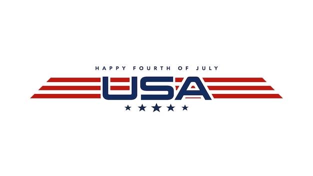 Tekst zbliżenie 4 lipca na tle wakacje, dzień narodu usa. luksusowy i elegancki szablon stylu ilustracji 3d na kartkę świąteczną
