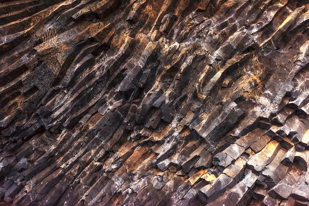 Tekstur gór reynisfyal przylądek dyrholaey iceland. świat piękna