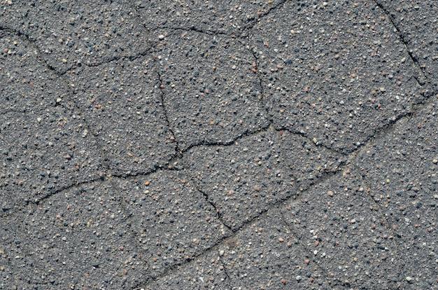 Tekstura asfaltu z pęknięciami