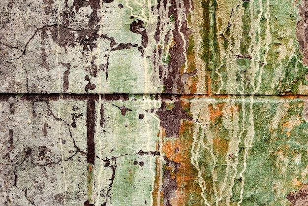 Tekstura betonowa ściana z pęknięciami i rysami które mogą używać jako tło