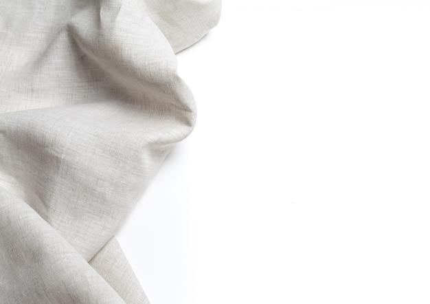 Tekstura białego płótna lnianego