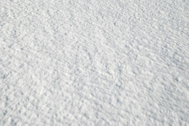 Tekstura białego śniegu.
