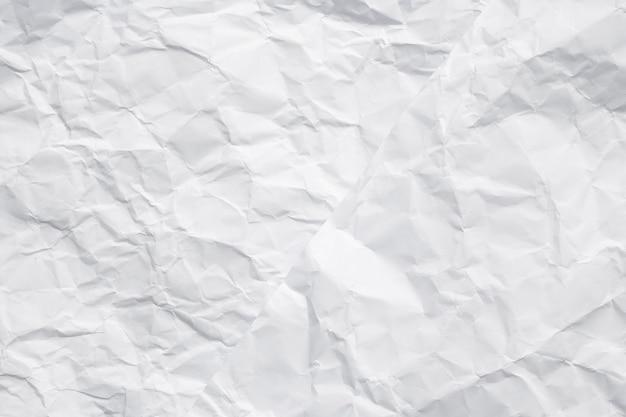 Tekstura biały zmięty papier na tle. nowy fason wykonany z dwóch zmiętych papierów.