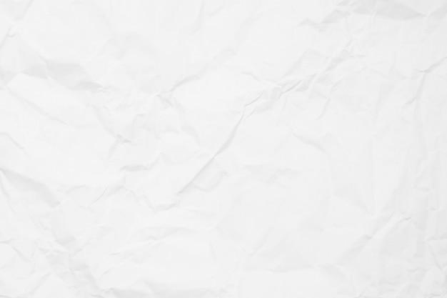 Tekstura biały zmięty papier na tle.