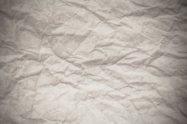 Tekstura biały zmięty papier tło.