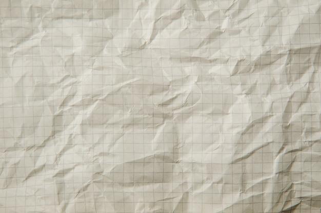 Tekstura biały zmięty papier