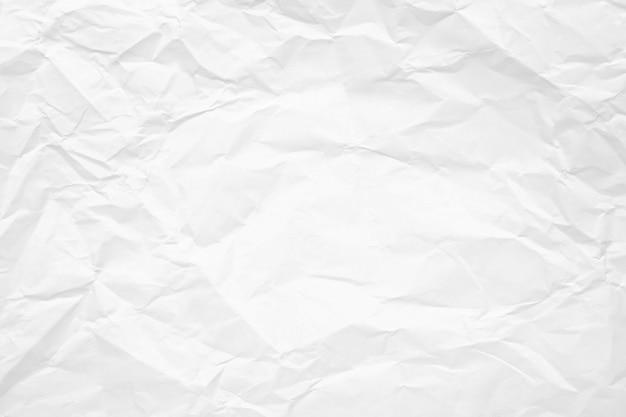 Tekstura Biel Zmięty Papier Dla Tła. Premium Zdjęcia