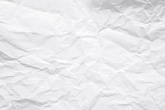 Tekstura biel zmięty papier dla tła.