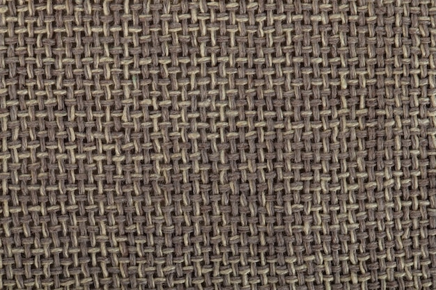 Tekstura brązowa tkanina płócienna, tekstura worek