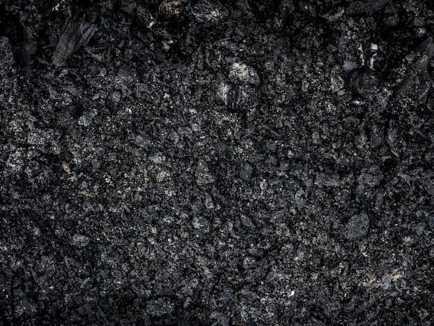 Tekstura czarnej żyznej warstwy zbliżenia ziemi