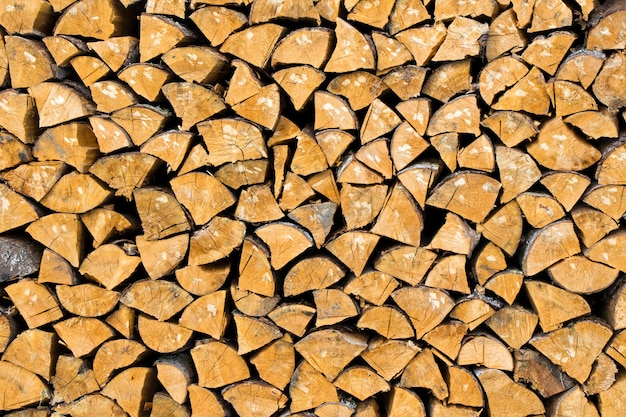 Tekstura drewna opałowego, materiał abstrakcyjny i drewniany