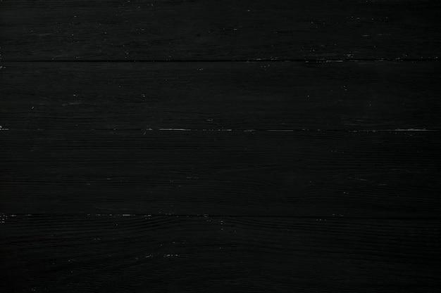 Tekstura drewnianego tła jest czarna, umieszczona poziomo, zbliżenie.