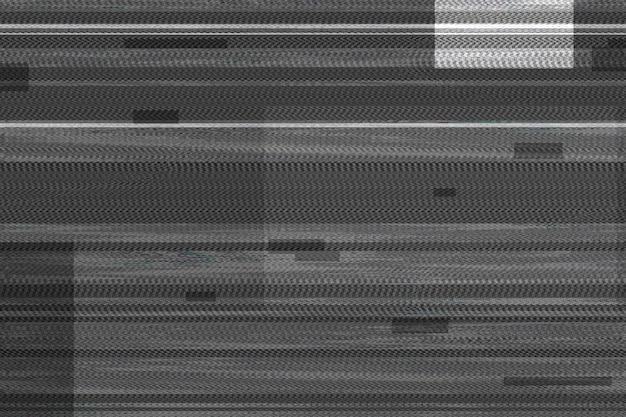 Tekstura efektu glitch na czarno