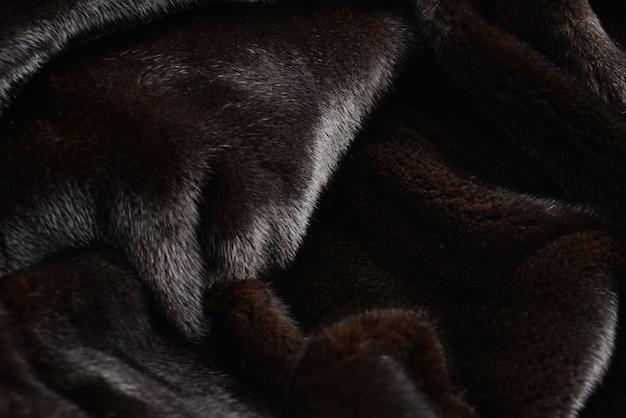 Tekstura futra norek brązowy.