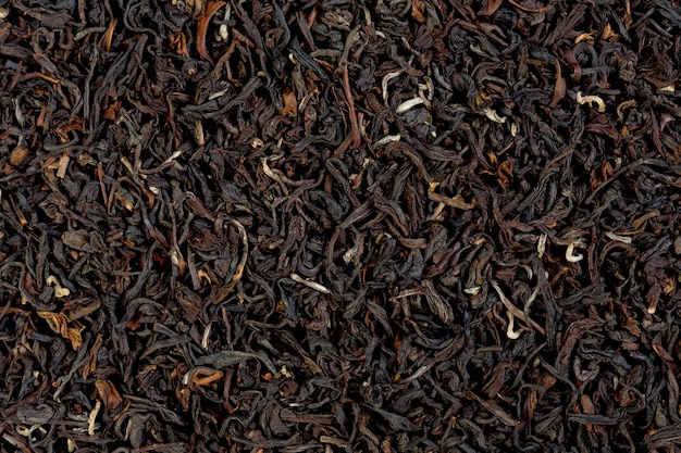 Tekstura herbaty darjeeling zamaskować. zdjęcie makro