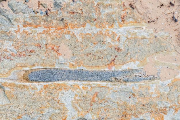 Tekstura kamienia z różnymi impregnacjami.
