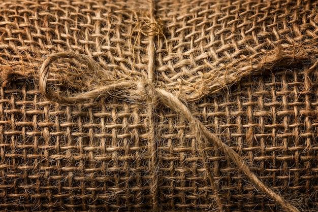 Tekstura makra tkaniny liny