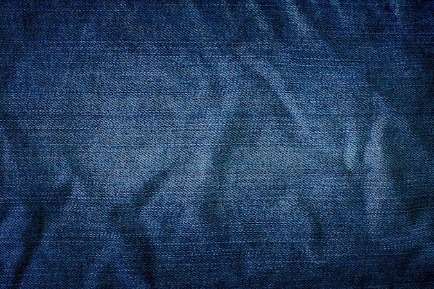 Tekstura niebieskich dżinsów na tle
