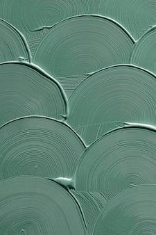 Tekstura obrysu pędzla z zieloną krzywą
