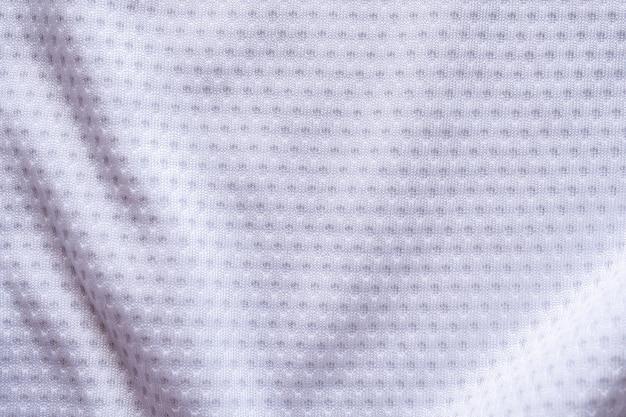 Tekstura odzieży sportowej białej tkaniny