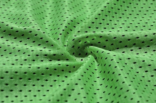 Tekstura odzieży sportowej z włókna poliestrowego.